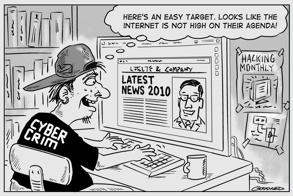 Hacker cartoon