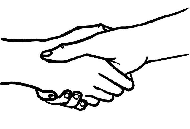 Handshake by Aidan Jones