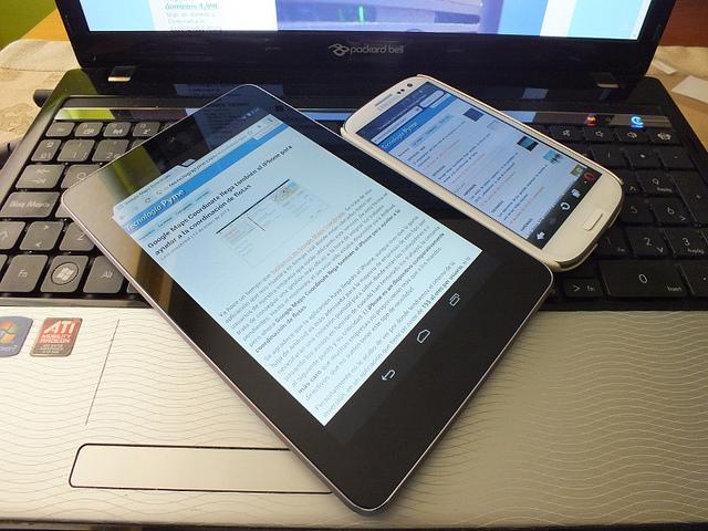laptop, tablet, smartphone