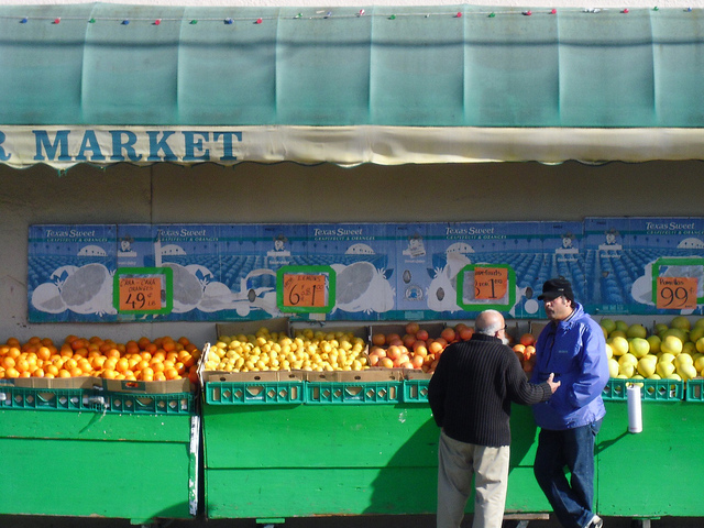 Market cc by Christopher Matson